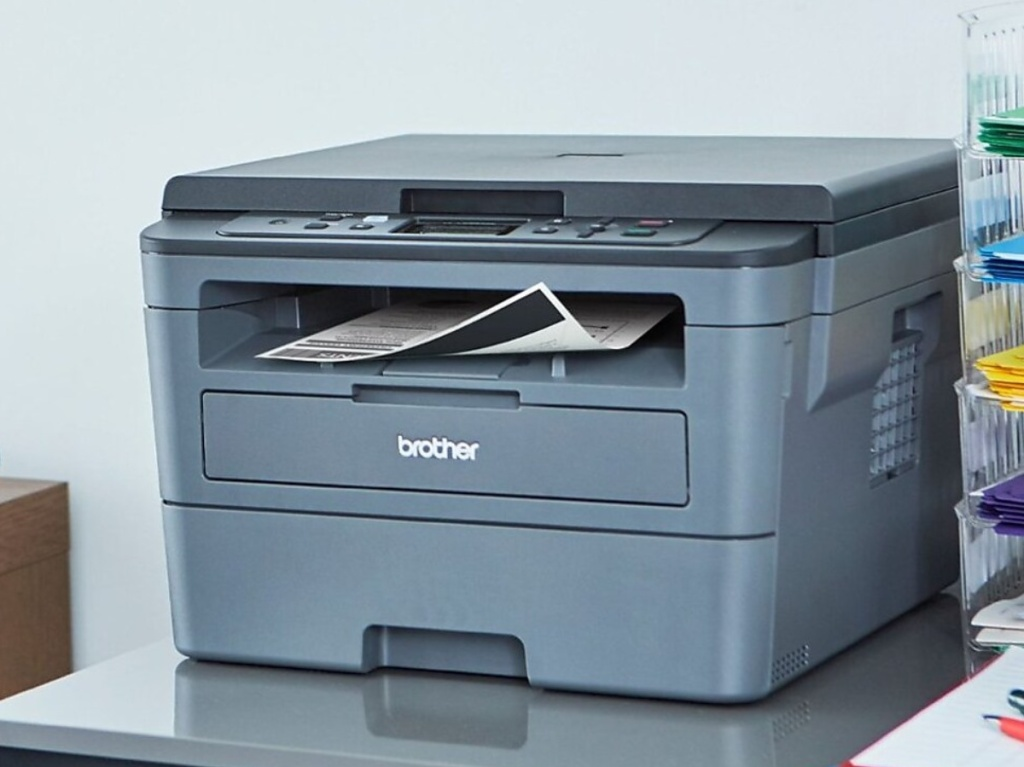 large black printer in home