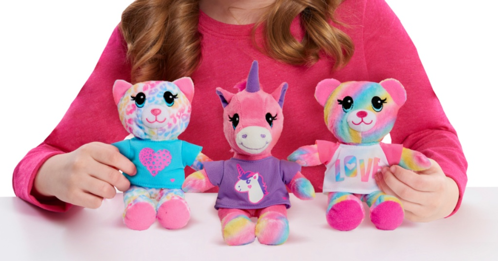 three build a bear plushies
