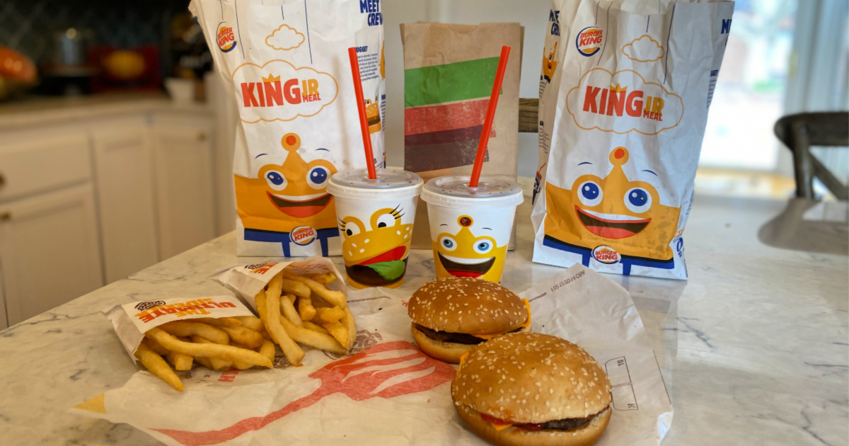 burger king kids meals on counter