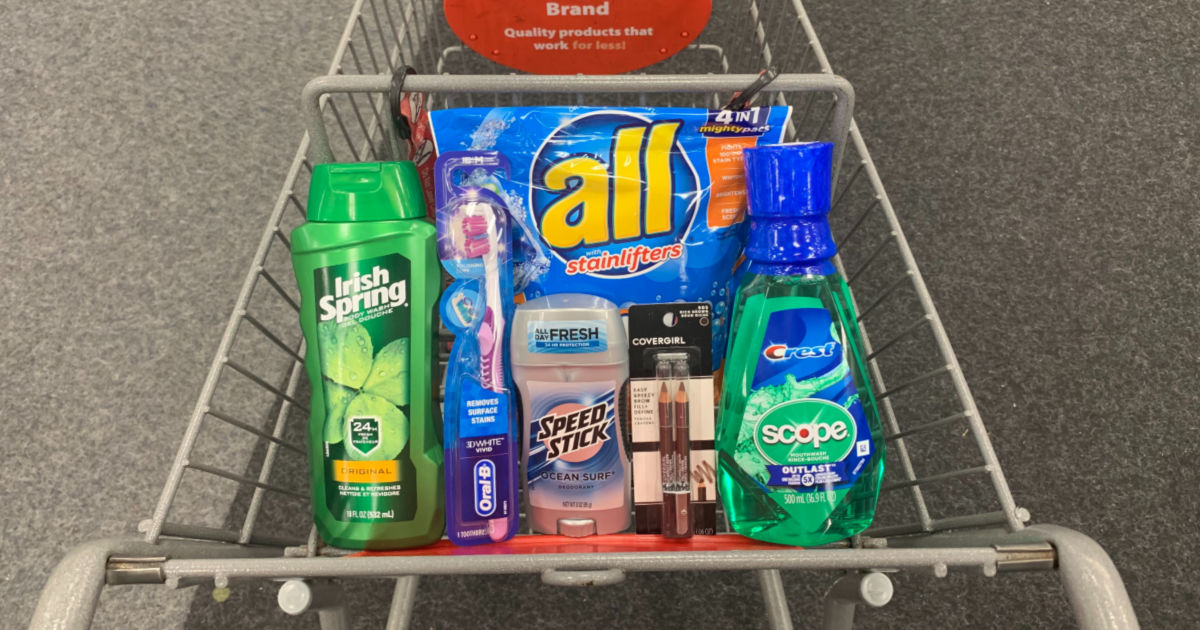 Personal care products in cart