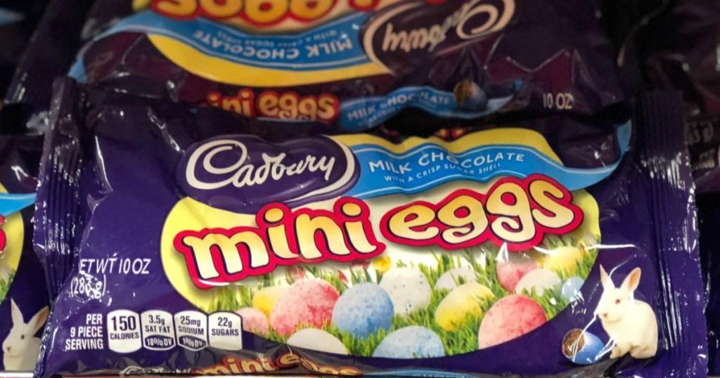 Cadbury Mini Eggs on shelf