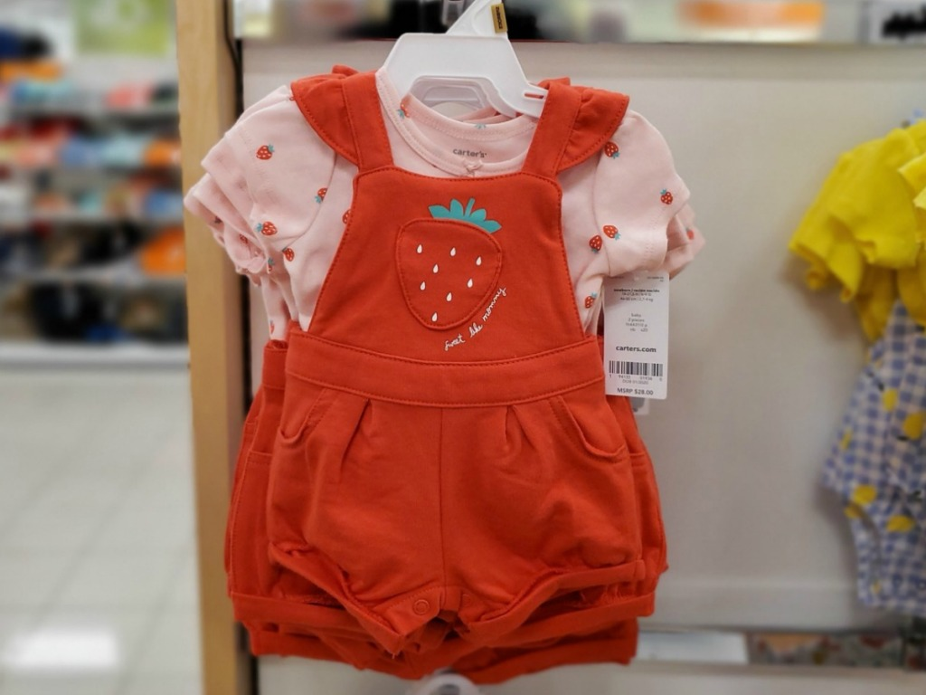 Baby girls strawberry themed outfit!