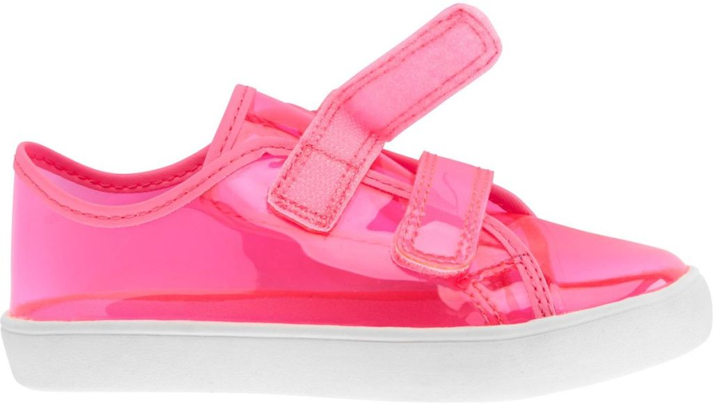 pink and white sneaker