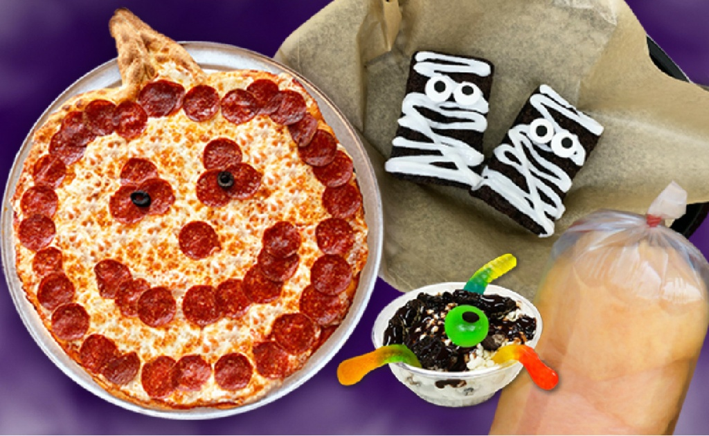 Halloween themed food items