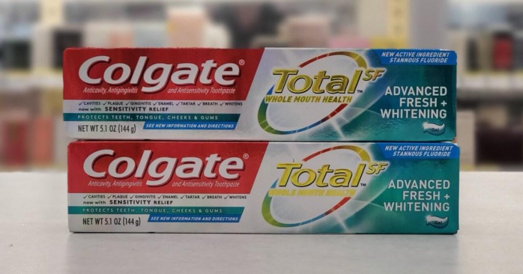 Colgate Toothpaste on Walgreens Shelf
