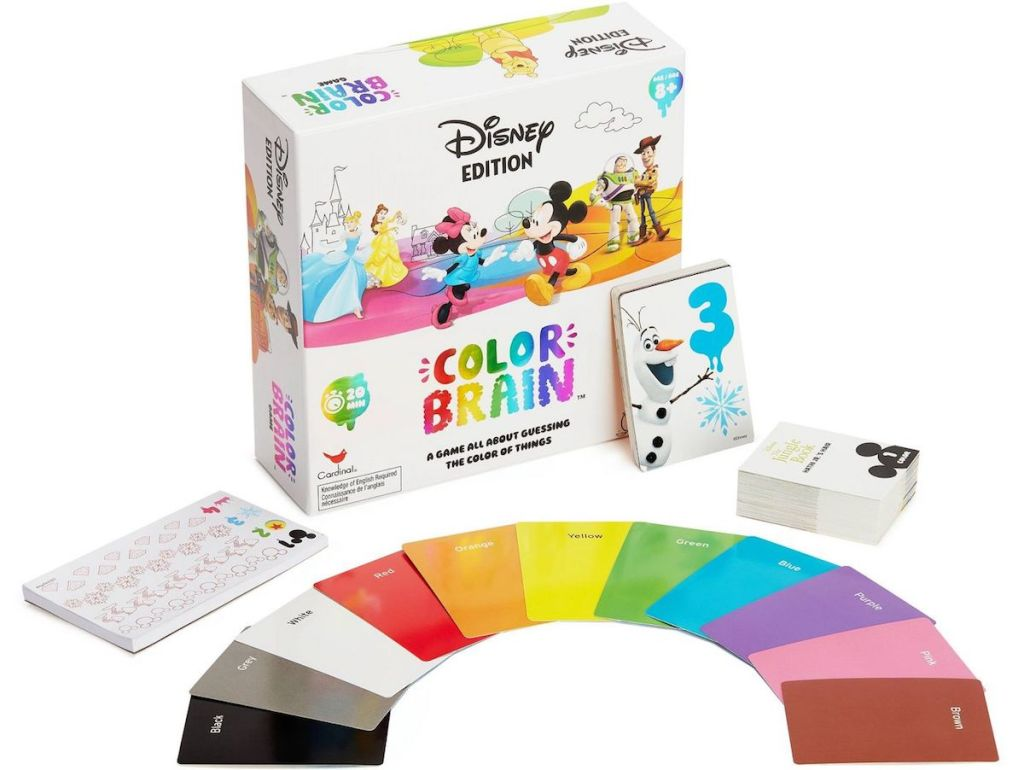 Color Brain game next to cards