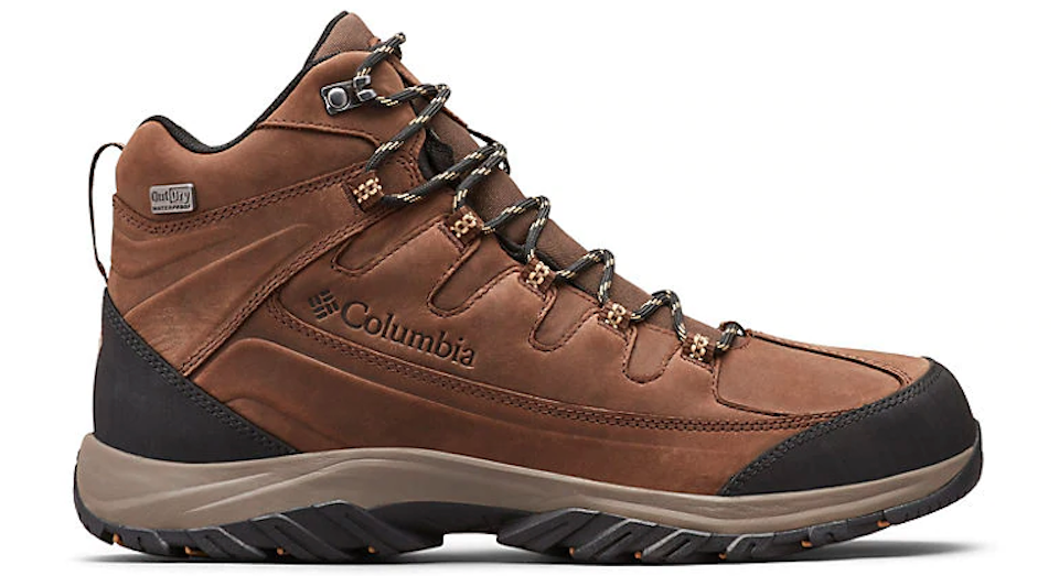 brown hiking boot