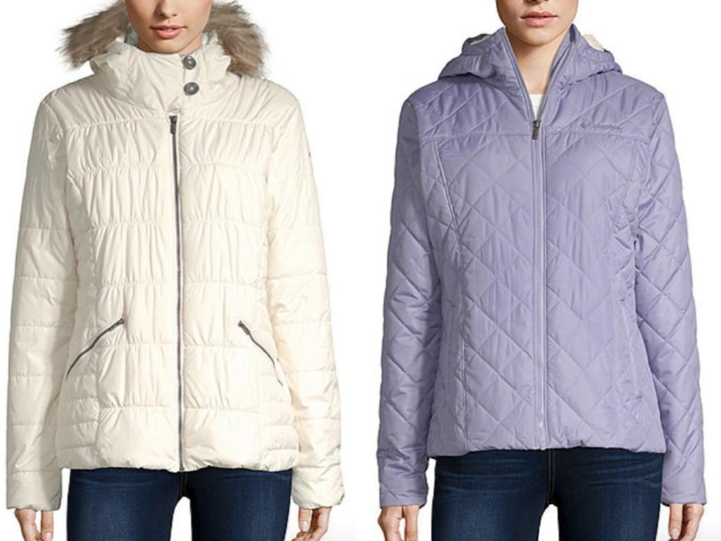 Women wearing Columbia jackets
