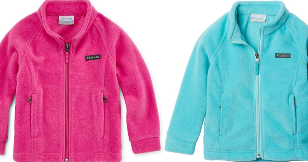 Columbia Girls jackets in pink and teal