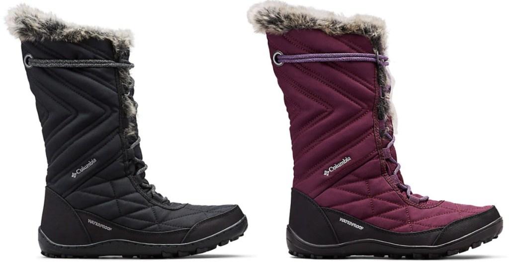 black and plum Women's Minx Mid III Boot