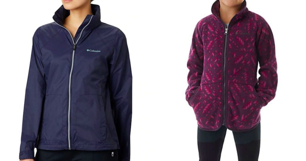 woman and girl wearing Columbia jackets