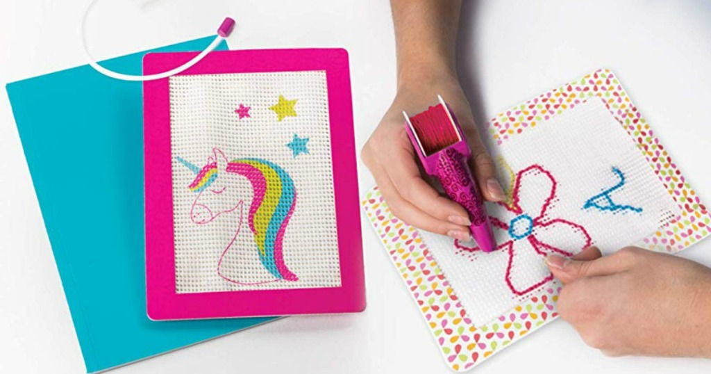 Girl designing Cool Maker diary