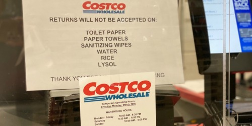 Costco Prohibits Return of Toilet Paper, Paper Towels & Wipes