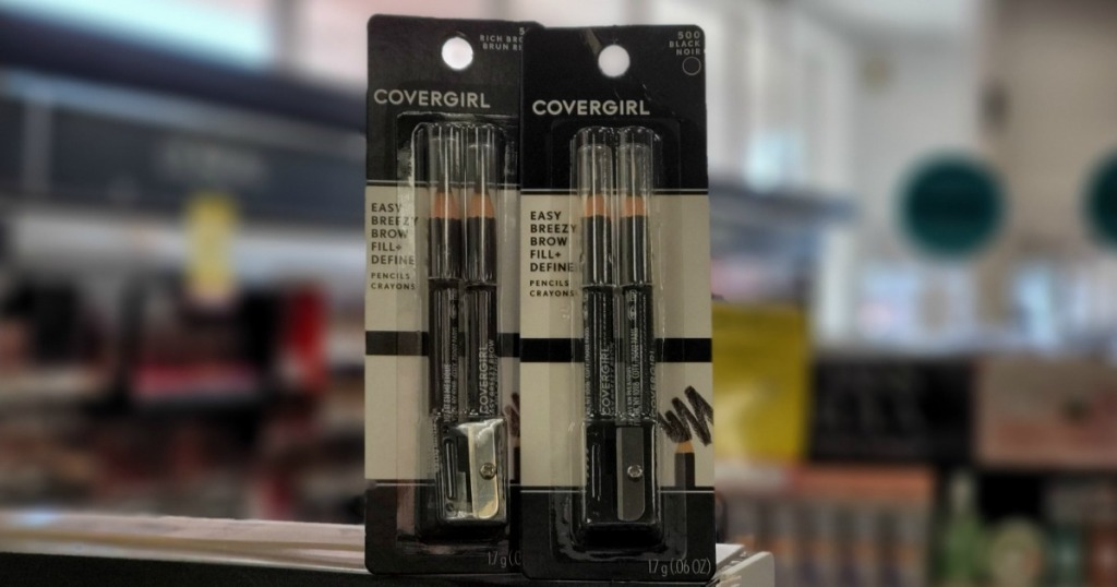 two CoverGirl Brow Fill Pencils on shelf at CVS