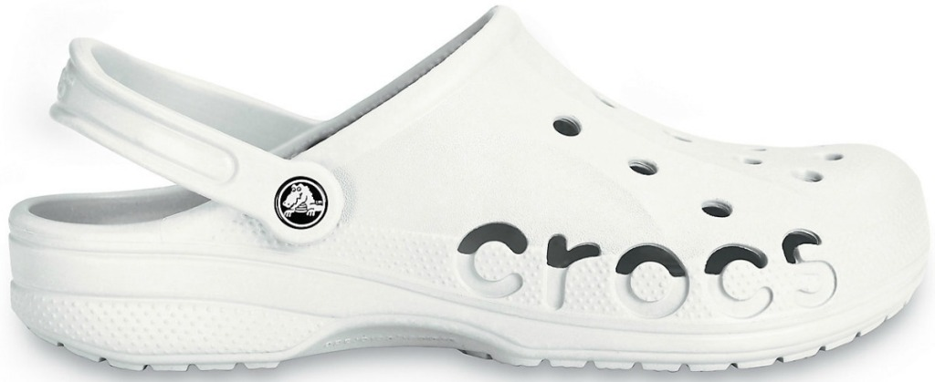Unisex Crocs clog in white with logo