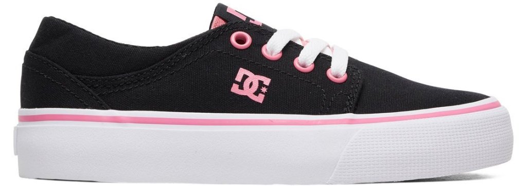 black, white and pink shoe