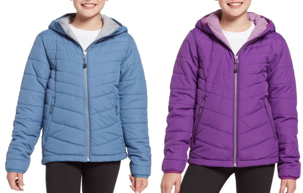 girl wearing blue and purple jackets