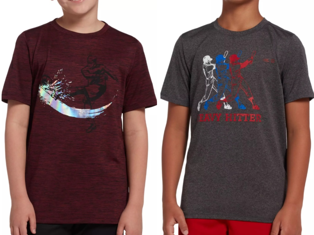 Boys Wearing Dicks Sporting Goods T-shirts
