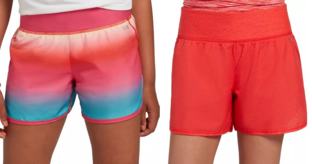 Girls wearing DSG shorts