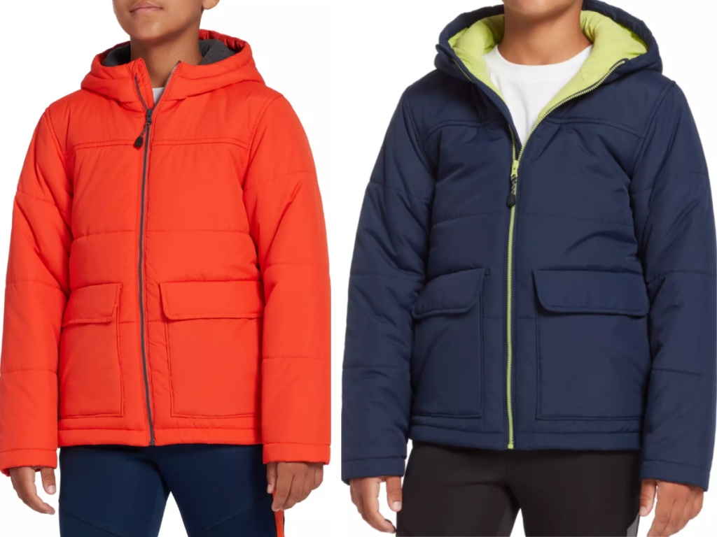 Boys wearing DSG insulated jackets