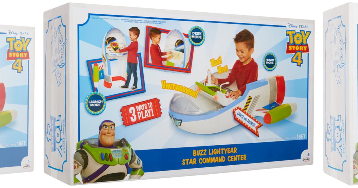 Disney Pixar Toy Story 4 Buzz Lightyear Star Command Center New Free Shipping