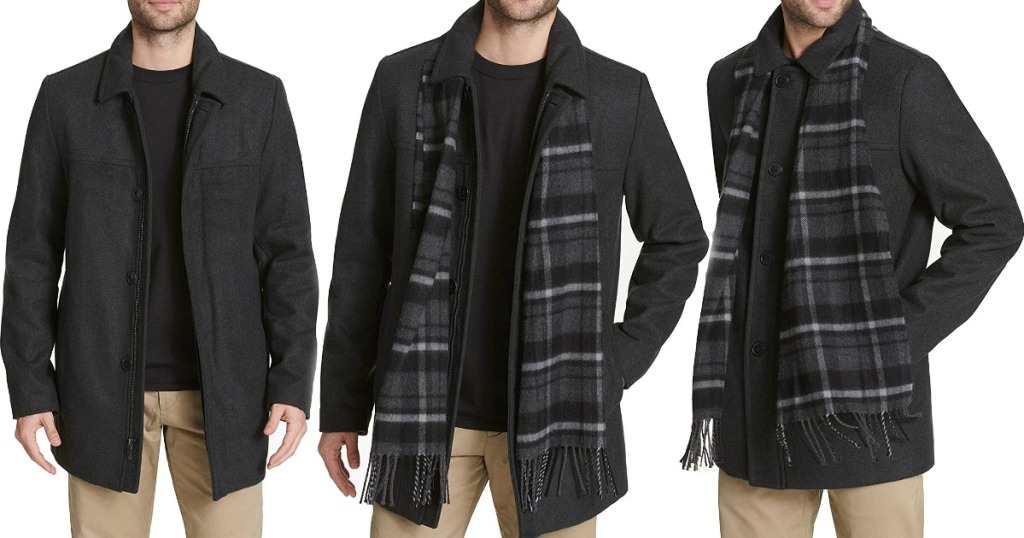 three images of men wearing jackets