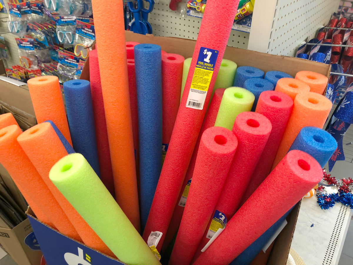 Dollar Tree pool noodles