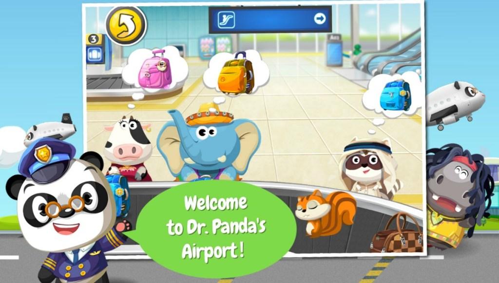 screenshot from a panda themed gaming app