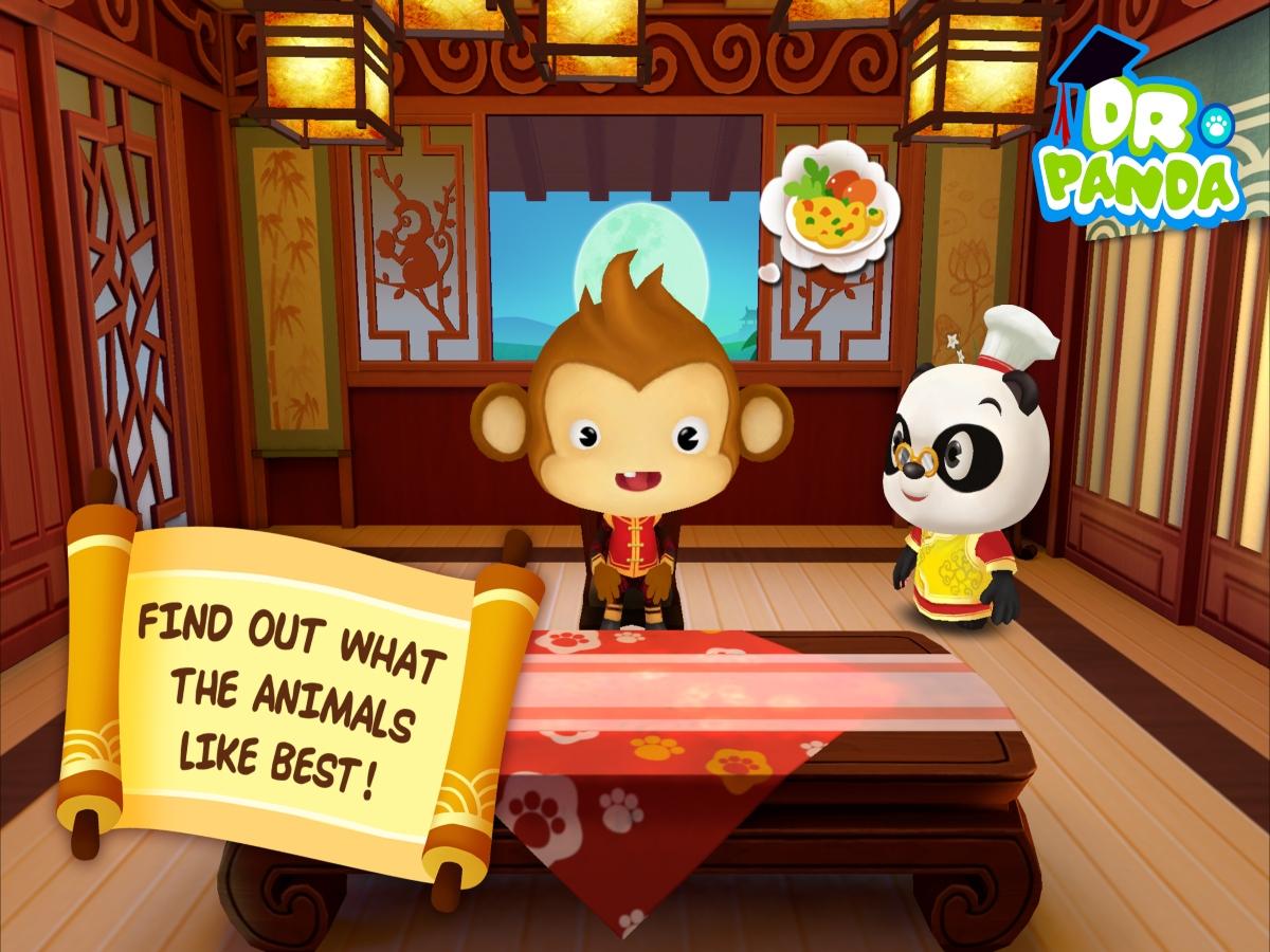 Dr. Panda Asia Restaurant app with Panda in Restaurant