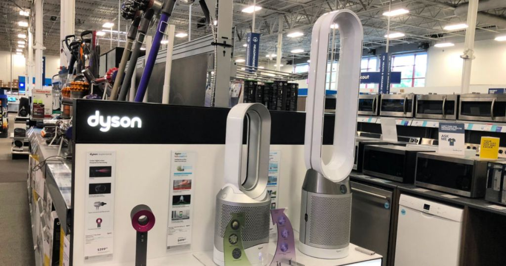 dyson air purifiers on display