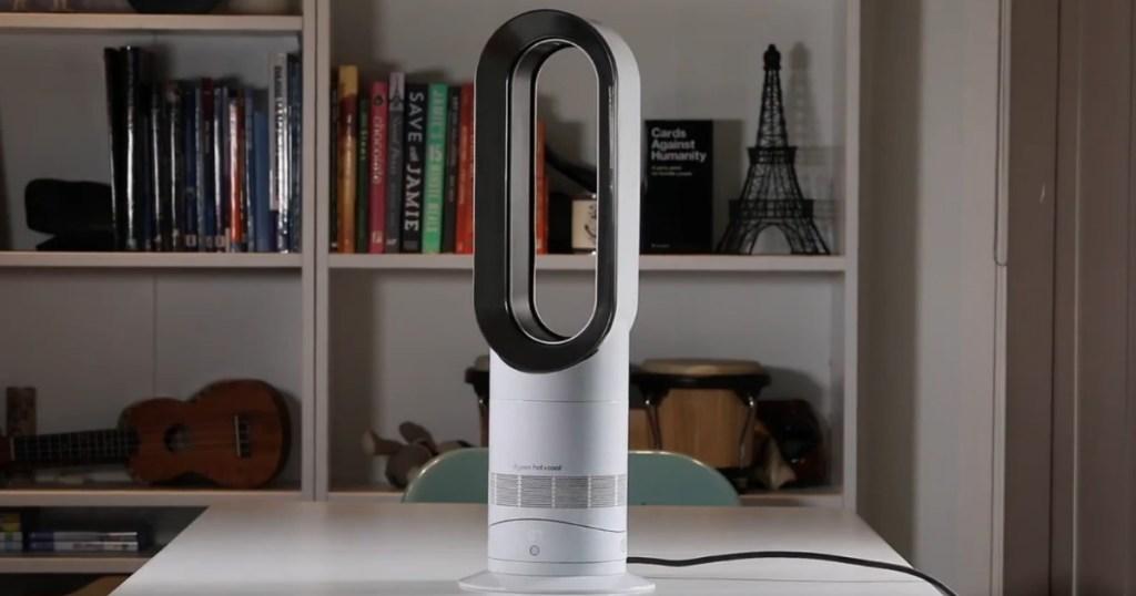 Dyson Hot Cool Fan on desk