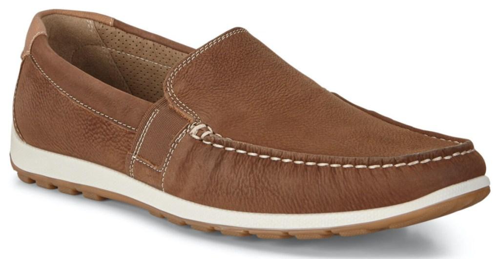 men's brown moccasin