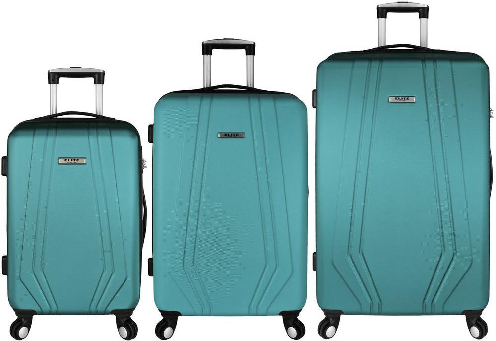 three pieces of luggage