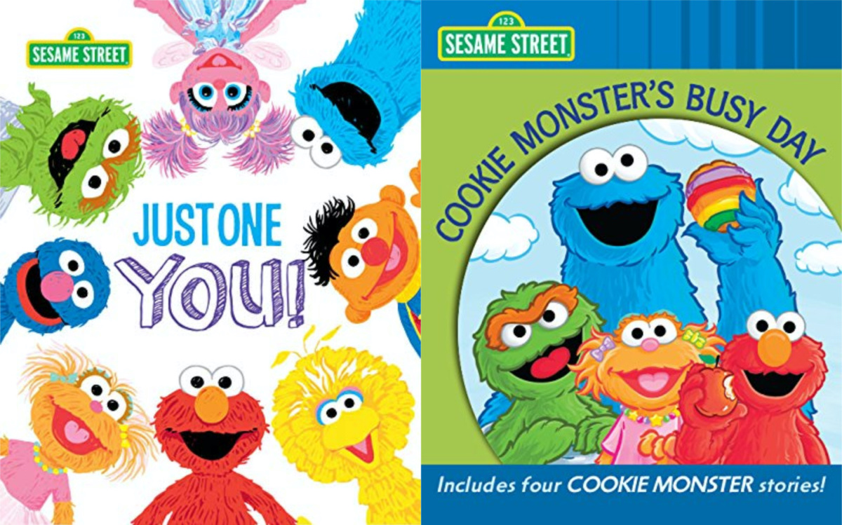 two Elmo book covers