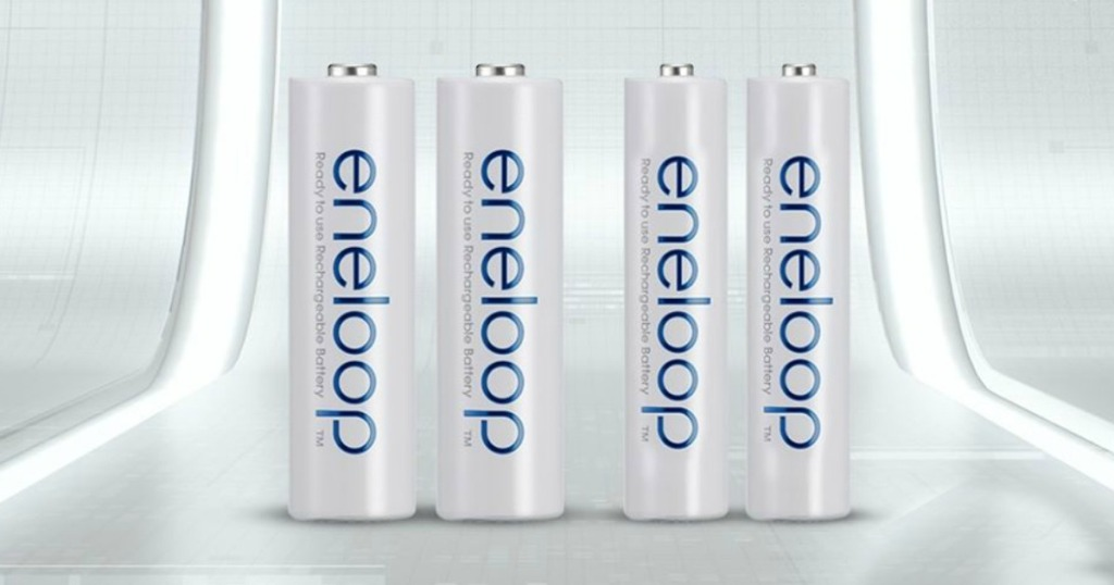 Eneloop Rechargeable batteries in a row