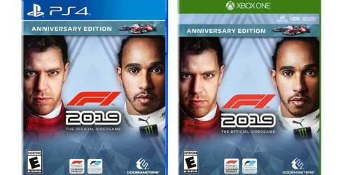 F1 2019 Anniversary Edition PS4 or Xbox One Game Just $19.99 (Value $45)