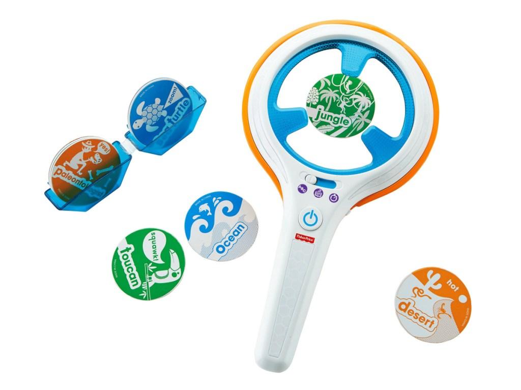 kid scanning word toy game set