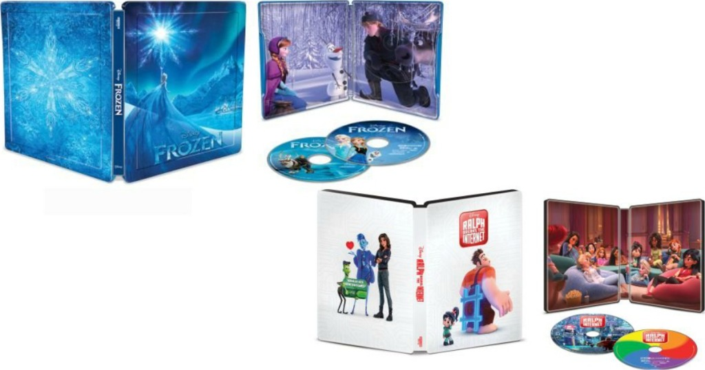 Frozen and Wreck it Ralph movie cases