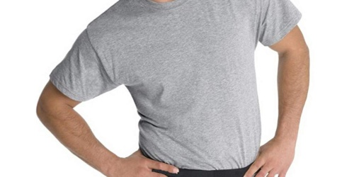 Fruit of the Loom Men's T-Shirt 5-Pack Only $11 on Amazon | Just $2.20 Each