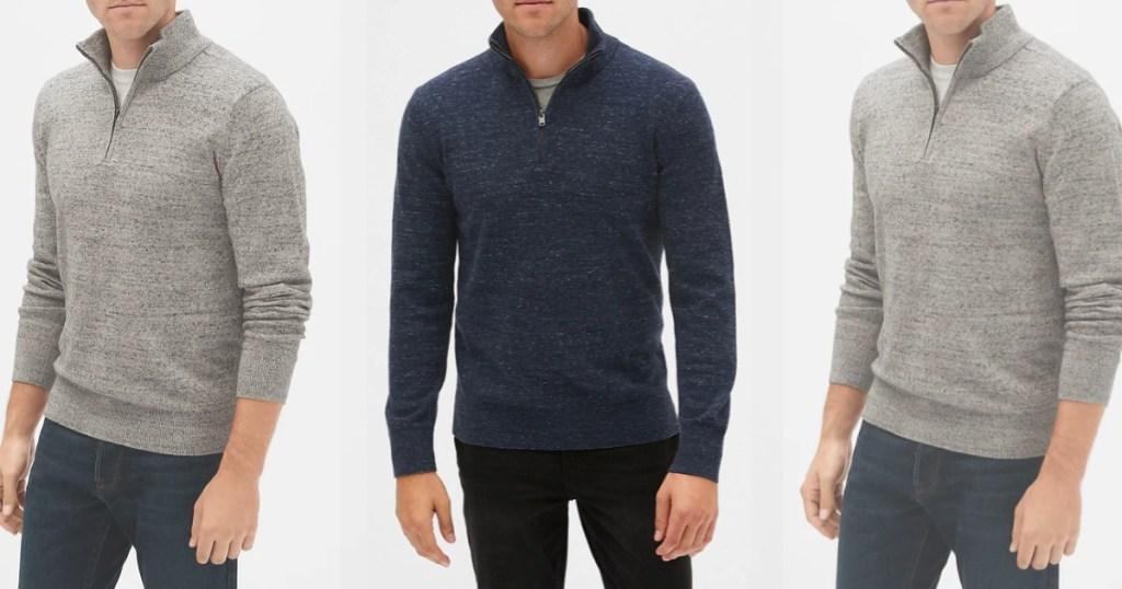 GAP mens mockneck sweater