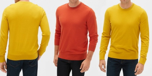 Up to 80% Off GAP Men's Sweaters, Jeans, Tees & More