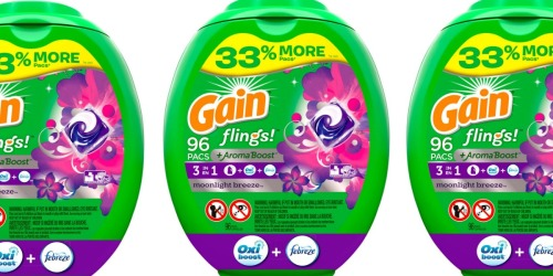HUGE Gain Flings 96-Count Tub Only $15.37 Each Shipped on Amazon