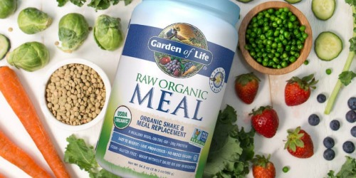 Up to 60% Off Garden of Life Meal Replacement Powder 2lb Jars + Free Shipping on Amazon
