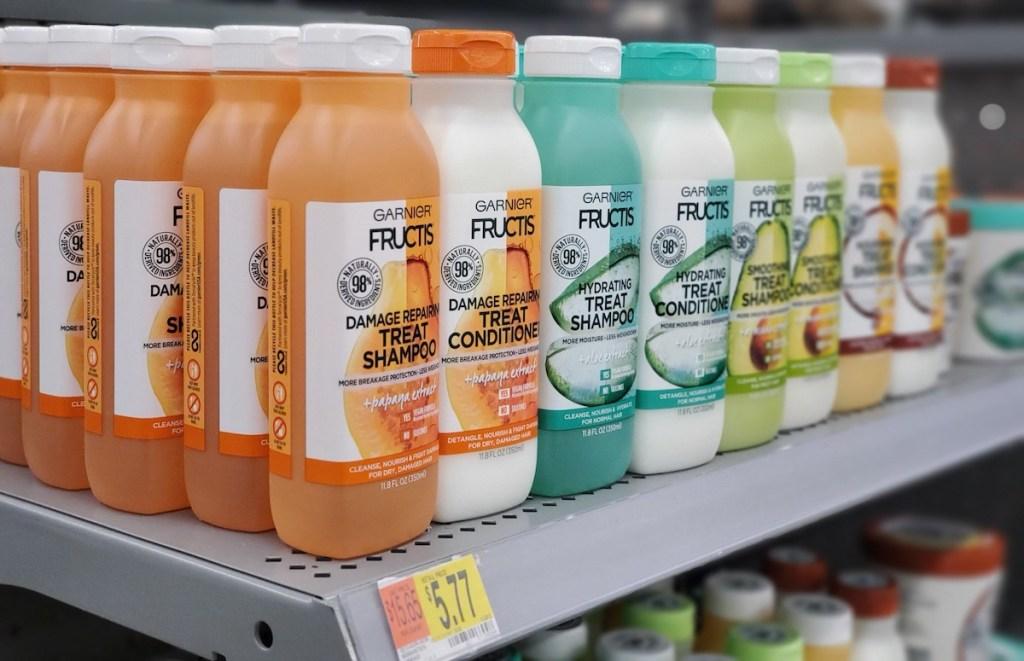 Garnier Treat products on shelf at Walmart