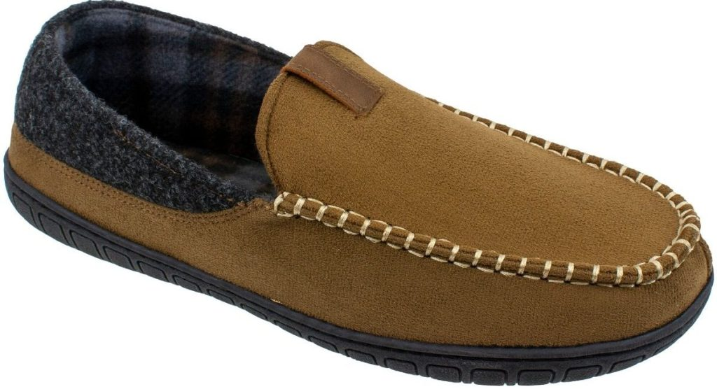 mens suede slipper one right foot one