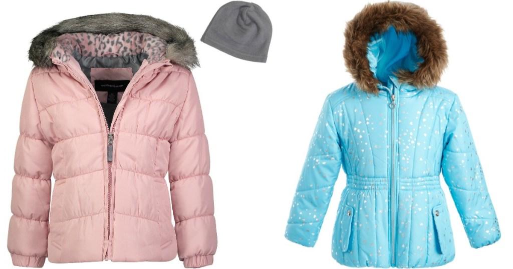 two girls puffer jackets