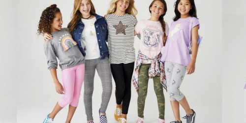 Up to 70% Off Girl Leggings on JCPenney