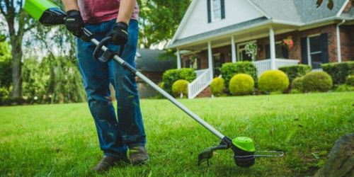 Greenworks Pro String Trimmer Just $59 at Lowe's (Regularly $119)