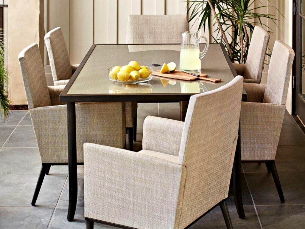 Hampton Bay Aria 7-Piece Patio Dining Set