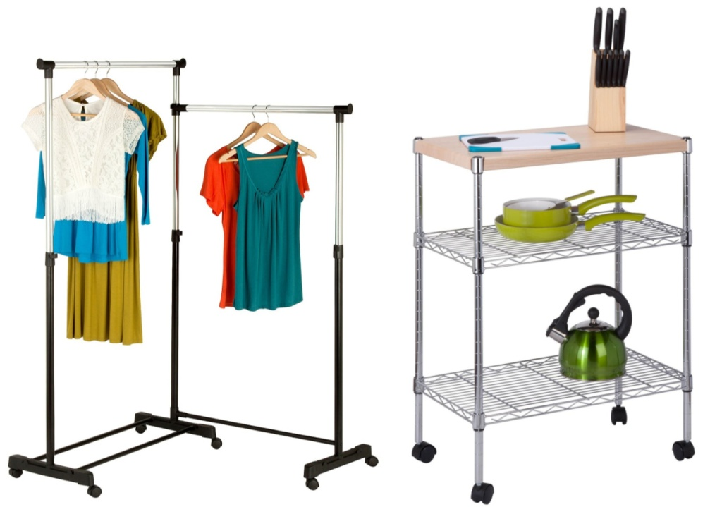 laundry hanger and utility cart
